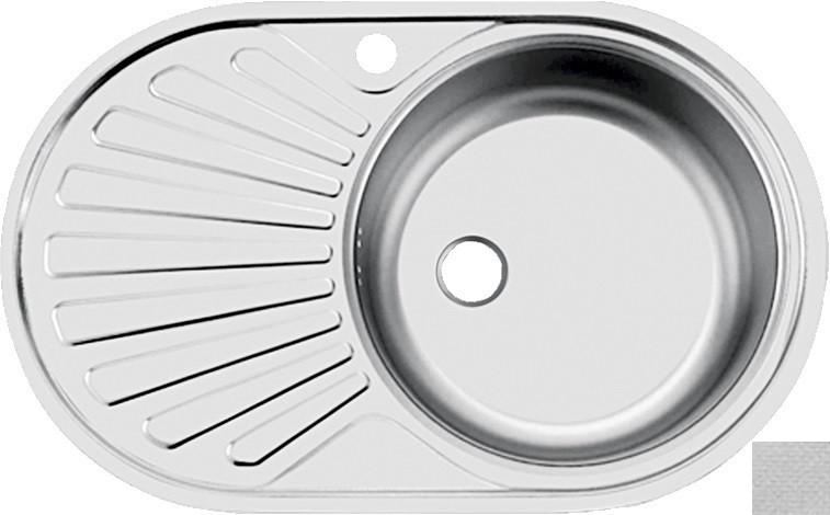 цена на Кухонная мойка декоративная сталь Ukinox Фаворит FAL760.470 -GT6K 1R