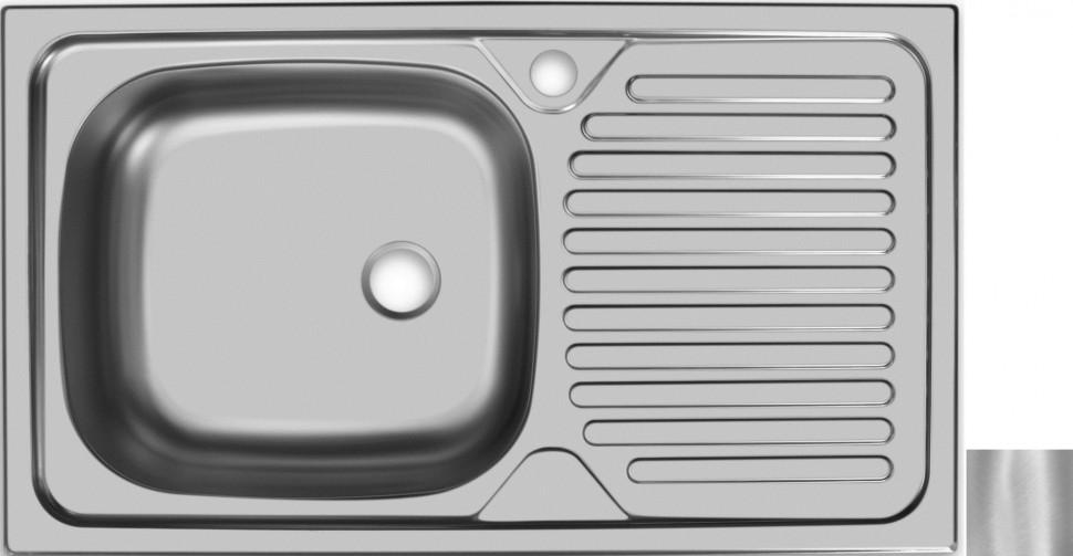 цена на Кухонная мойка матовая сталь Ukinox Классика CLM760.435 ---5K 2L