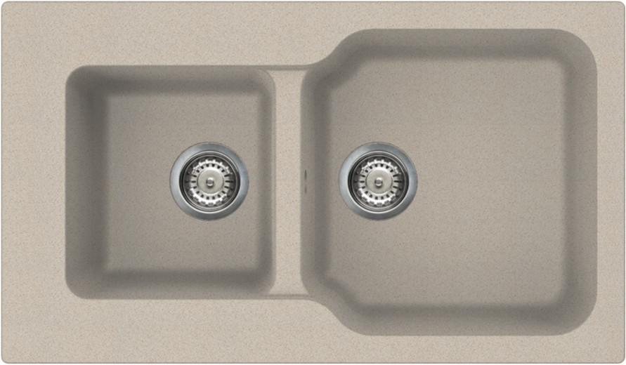 Кухонная мойка бежевый Tetogranit Omoikiri Maru 86-2-SA