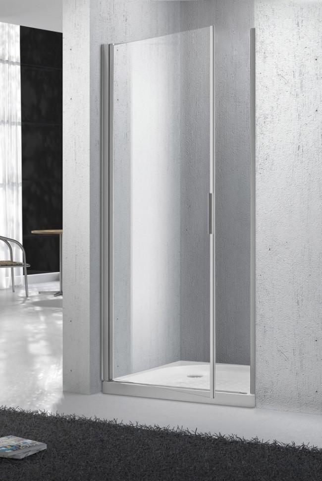 Душевая дверь распашная BelBagno Sela 80 см текстурное стекло SELA-B-1-80-Ch-Cr цена и фото