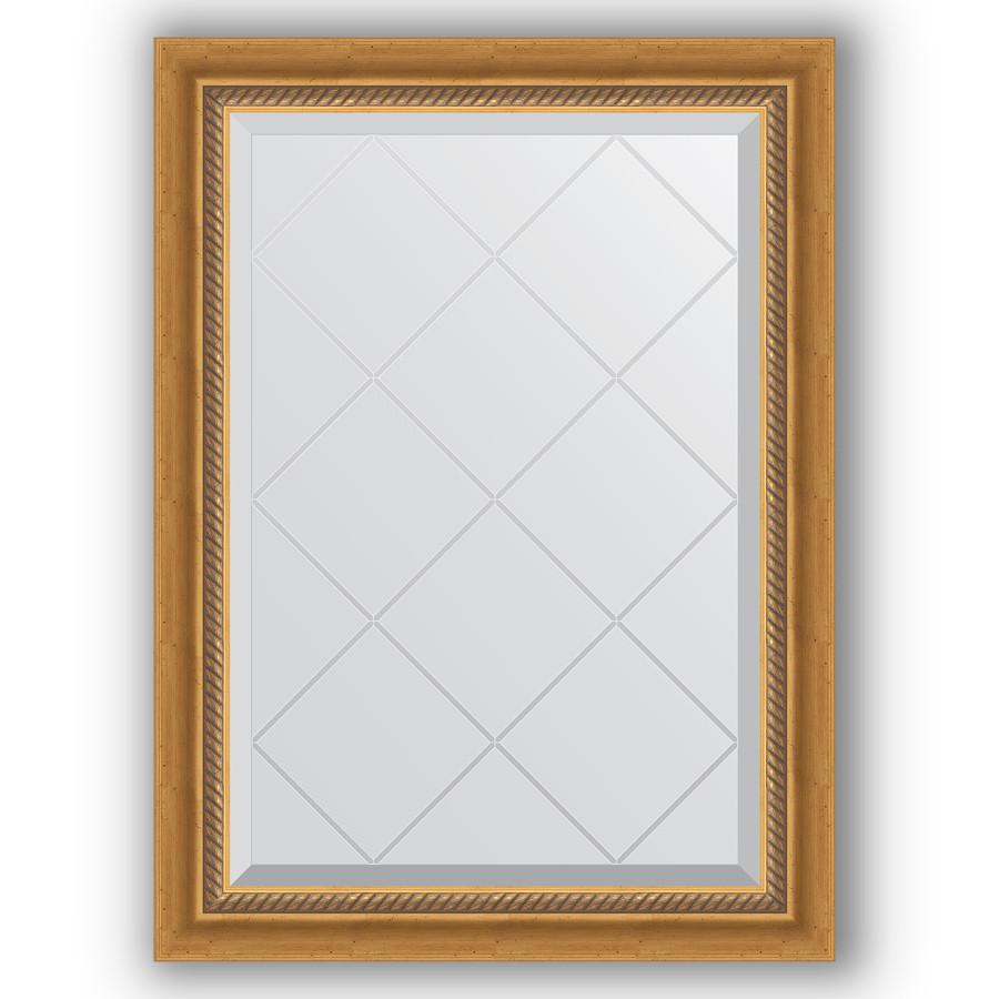 Зеркало 63х86 см состаренное золото с плетением Evoform Exclusive-G BY 4088