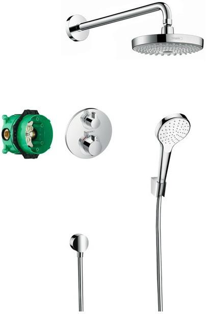 Душевой комплект Hansgrohe Croma Select S 27295000 душевой комплект hansgrohe croma select s 27295000 с термостатом