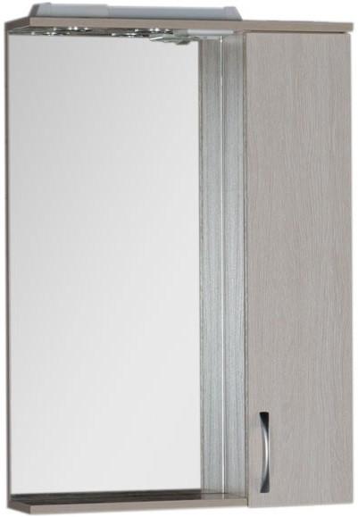 Зеркальный шкаф 60х87 см с подсветкой белый дуб Aquanet Донна 00169038 зеркальный шкаф 90х87 см с подсветкой венге aquanet донна 00169179