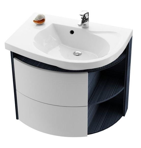 Тумба 78 см strip onyx/белый Ravak SDU Rosa Comfort L X000000312