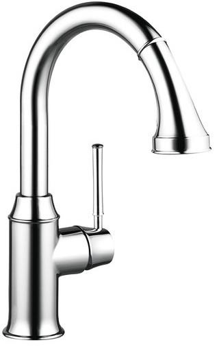 Смеситель для кухни, однорычажный, с выдвижным душем Hansgrohe Talis Classic 14864000