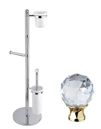 Комплект для туалета золото 24 карат, swarovski Cezares Olimp OLIMP-WCS-03/24-Sw крючок двойной cezares olimp hk 03 24 sw