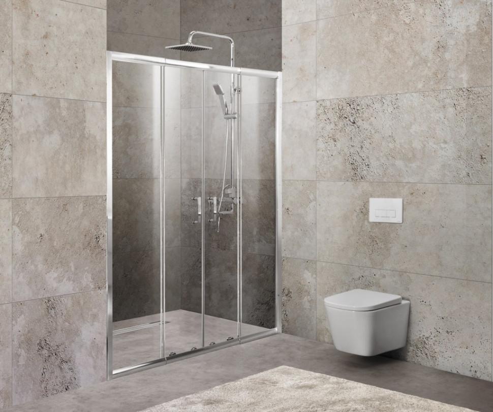 Душевая дверь 170-200 см BelBagno UNIQUE-BF-2-170/200-P-Cr текстурное стекло