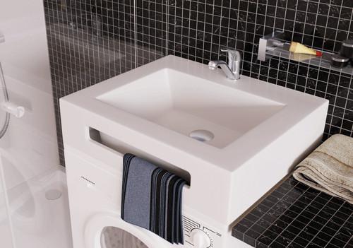 Раковина над стиральной машиной 60х60 см без кронштейнов Kolpa San KVADRA WB