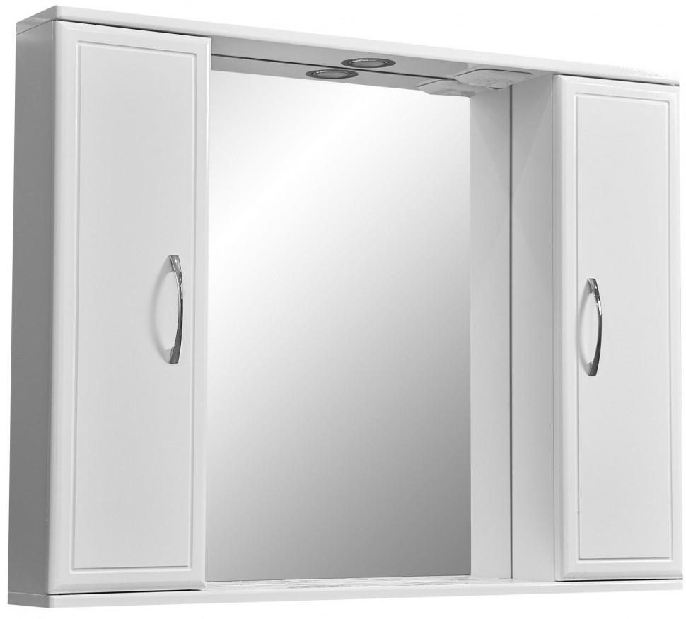 Фото - Зеркальный шкаф 90х70 см белый глянец/белый матовый Stella Polar Концепт SP-00000131 комод stella polar концепт 60 с бельевой корзиной белый sp 00000155