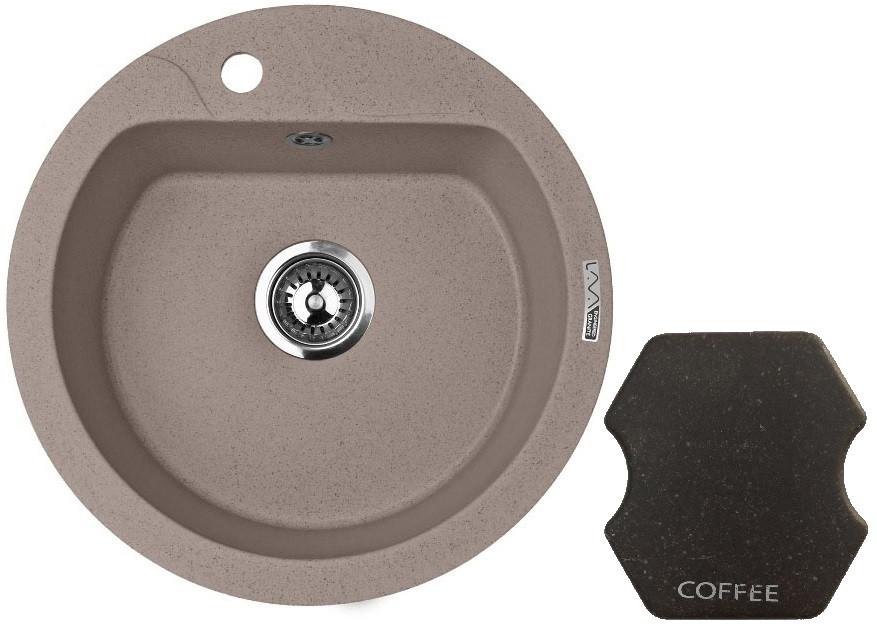 Кухонная мойка COFFEE Lava R3.CFF мойка кухонная lava r3 o505 белый r3lat