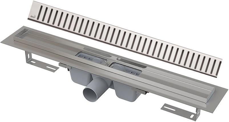 Душевой канал 294 мм глянцевый хром AlcaPlast APZ1 Pure APZ1-300 + PURE-300L