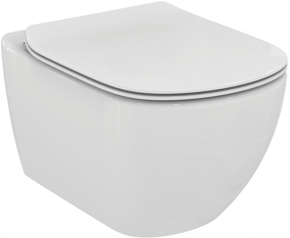 Унитаз подвесной Ideal Standard Tesi Aquablade T007901 унитаз с бачком ideal standard tesi aquablade пристенный с сиденьем микролифт