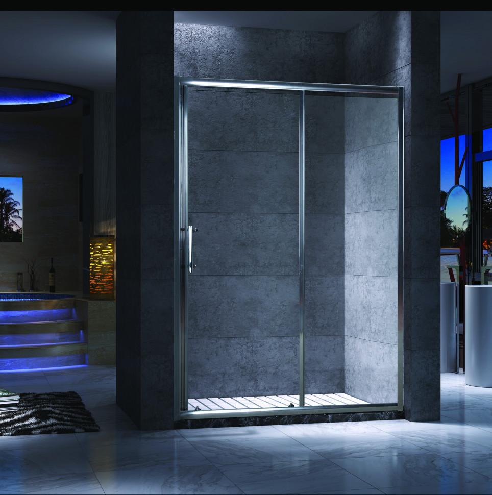Душевая дверь раздвижная 100 см прозрачное стекло Esbano ES-100DK шторка для ванны 150 см esbano es 1415 прозрачное