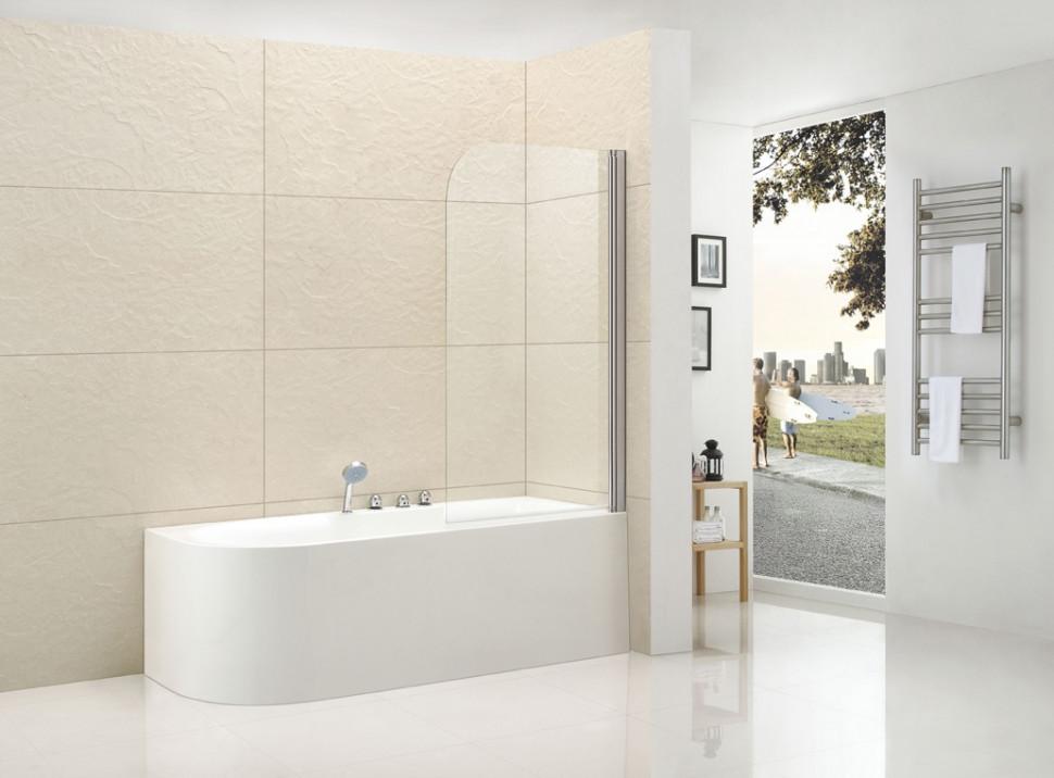 Шторка для ванны Cezares Eco 80 см текстурное стекло ECO-O-V-1-80/140-P-Cr-R цена