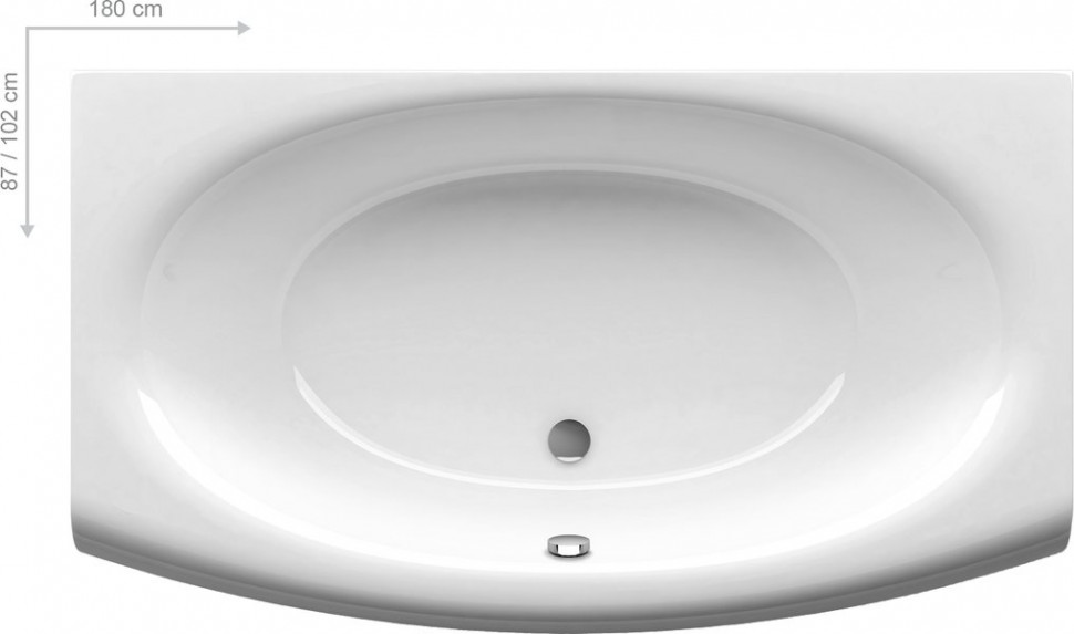 Акриловая ванна Evolution 170x97 Ravak C851000000 боковая панель ravak evolution cz11100a00