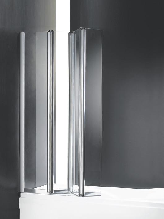 лучшая цена Шторка для ванны с одним неподвижным стеклом Cezares Trio 90 см текстурное стекло TRIO-W-V-3-90/140-P-Cr-L