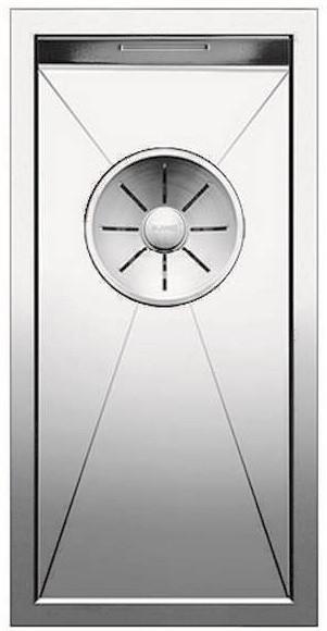 Кухонная мойка Blanco Zerox 180-IF InFino зеркальная полированная сталь 521566 кухонная мойка blanco zerox 180 if нерж сталь зеркальная полировка 521566