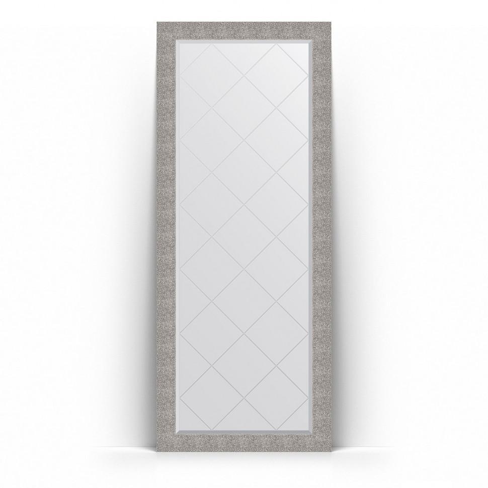 Фото - Зеркало напольное 81х201 см чеканка серебряная Evoform Exclusive-G Floor BY 6383 зеркало напольное 81х201 см чеканка золотая evoform definite floor by 6008