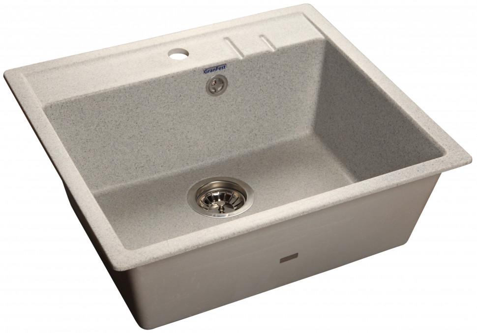 Кухонная мойка серый GranFest Quadro GF-Q560 кухонная мойка серый granfest quadro gf q560