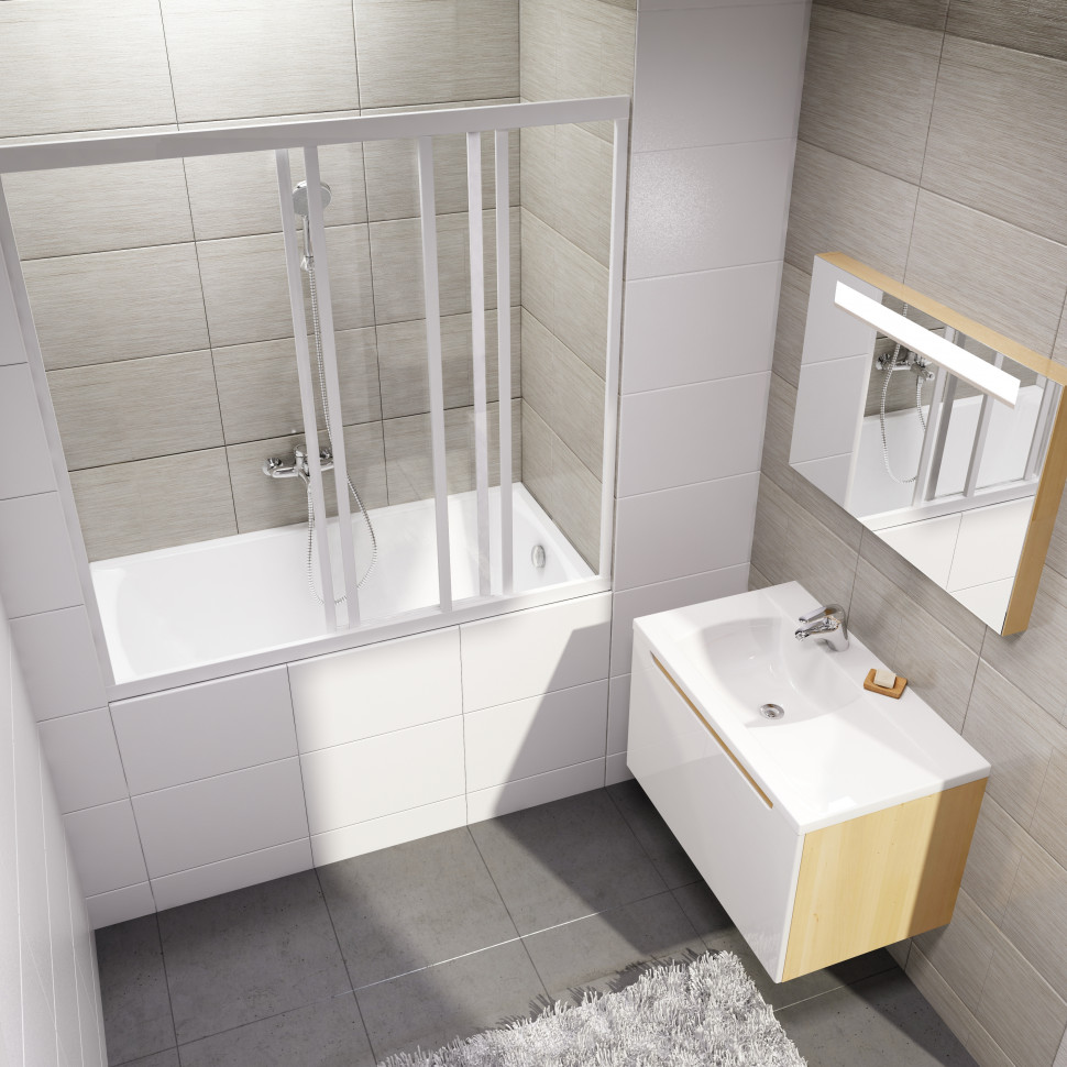 Шторка для ванны Ravak AVDP3 - 160 белый Transparent 40VS0102Z1