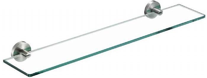 Полка стеклянная 60 см матовый хром Nofer Niza 16856.S