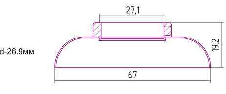 Отражатель декоративный d - 26,9 мм Сунержа 00-1028-0002