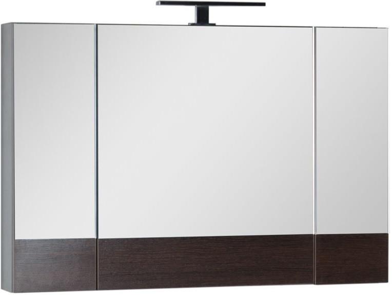 Зеркальный шкаф 100х67 см венге Aquanet Нота 00159111