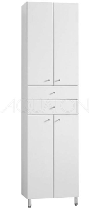 Пенал напольный белый глянец Акватон Симпл 1A122303SL010