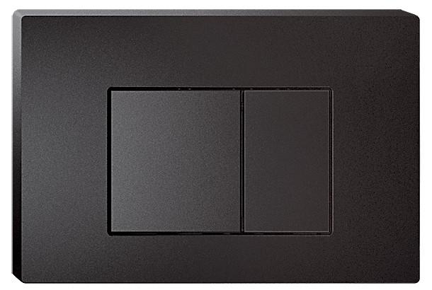Смывная клавиша черный матовый для двойного смыва IDDIS Unifix UNI31MBI77 клавиша смыва универсальная матовый черный iddis unifix uni31mbi77