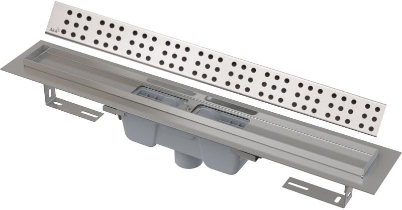 Душевой канал 844 мм глянцевый хром AlcaPlast APZ1001 Cube APZ1001-850 + CUBE-850L фото