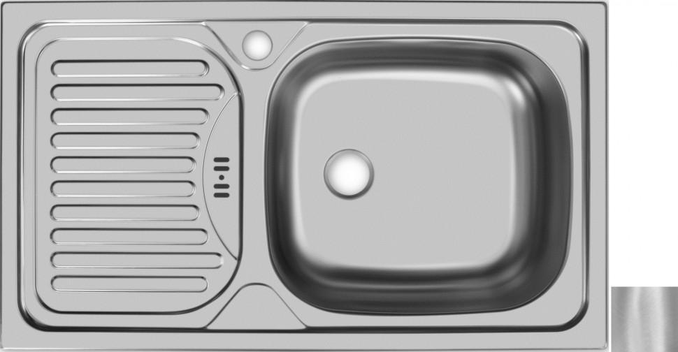 цена на Кухонная мойка матовая сталь Ukinox Классика CLM760.435 --W6K 1R