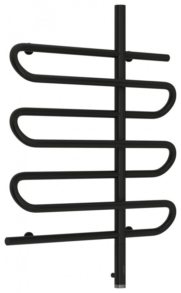 Полотенцесушитель электрический 800х600 черный матовый МЭМ правый Сунержа Эпатаж 31-0551-8060