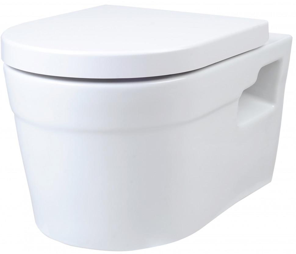 Подвесной безободковый унитаз с сиденьем микролифт Creo Ceramique Project PR1100+PR1101