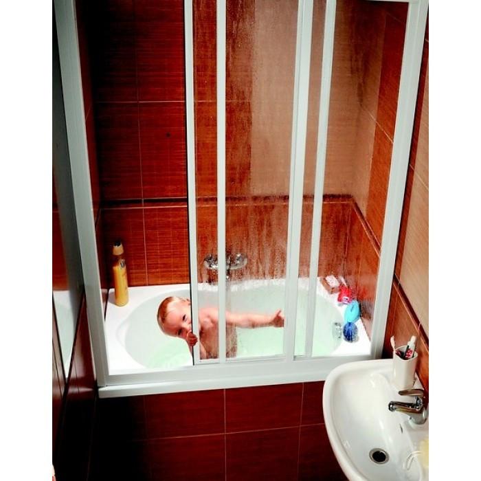 Шторка для ванны Ravak AVDP3 - 120 белый Rain 40VG010241 шторка для ванны ravak avdp3 170 белый transparent 40vv0102z1