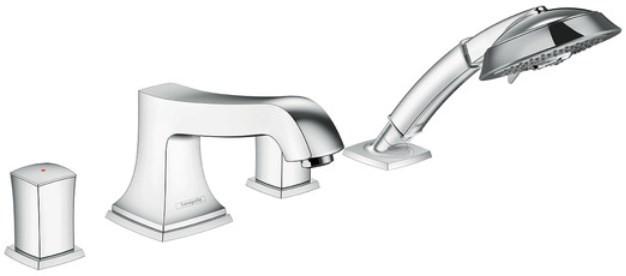 Смеситель на борт ванны Hansgrohe Metropol Classic 31315000 смеситель для ванны и душа hansgrohe metropol 74540000 хром