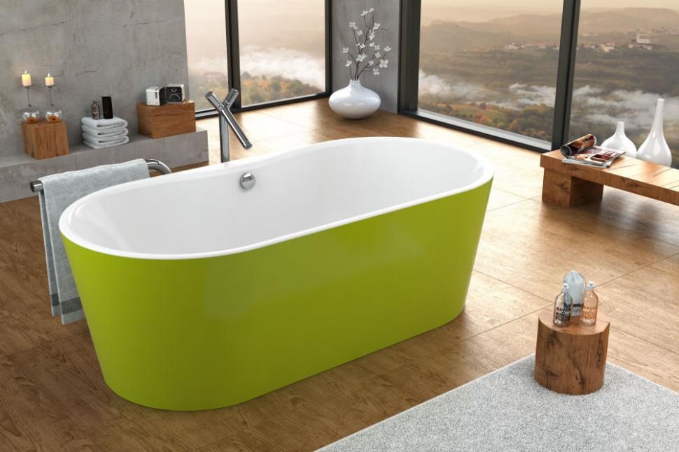 Акриловая аэромассажная ванна 185х90 см Kolpa San Comodo FS Green Air