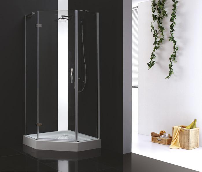 Душевой уголок Cezares Bergamo 90x90 см прозрачное стекло BERGAMO-W-P-1-90-C-Cr-L-IV