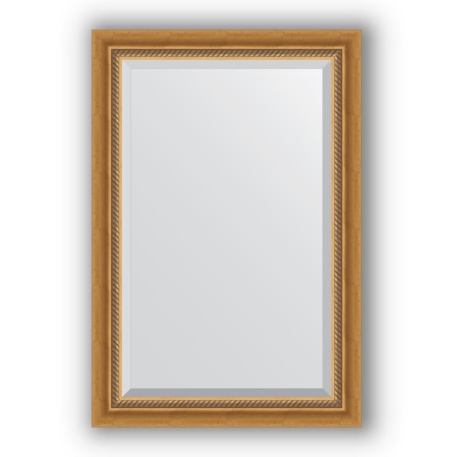 Зеркало 63х93 см состаренное золото с плетением Evoform Exclusive BY 3431