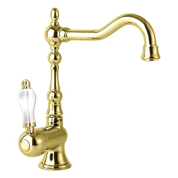 Смеситель для раковины золото 24 карата Cezares Venezia VENEZIA-LSM2-A-03/24-Bi
