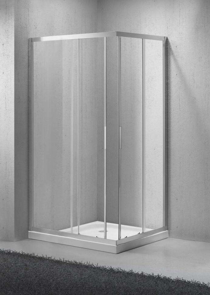 Душевой уголок BelBagno Sela 100х80 см текстурное стекло SELA-AH-2-100/80-Ch-Cr душевой уголок belbagno sela ah 2 100х80 chinchilla хром sela ah 2 100 80 ch cr