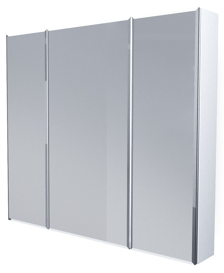 Зеркальный шкаф 90х80 см белый глянец 1Marka Соната У29558 недорого