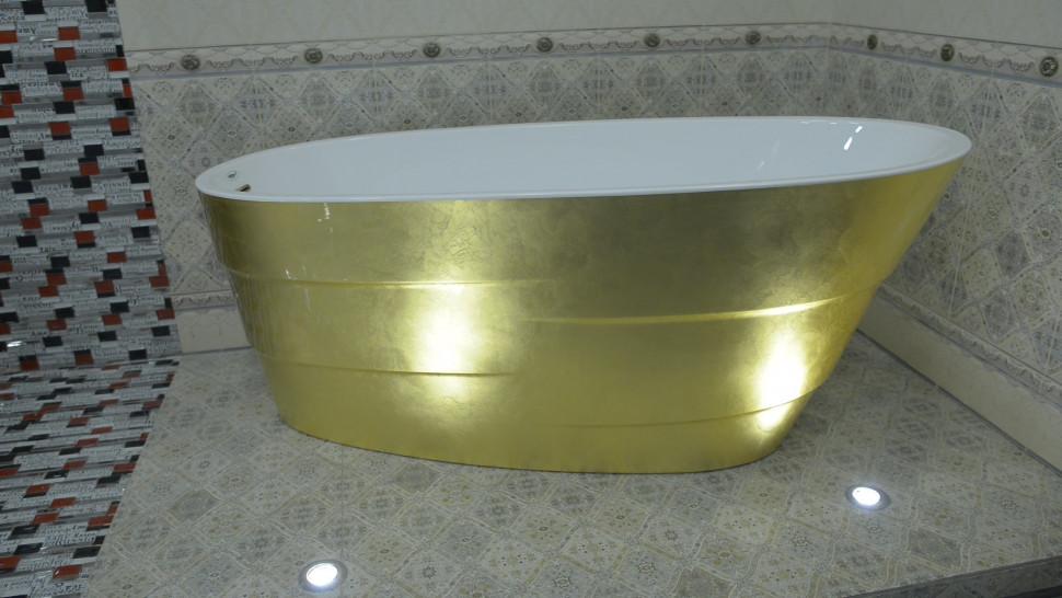 Акриловая ванна 170х75 см Lagard Auguste Treasure Gold lgd-agst-tg