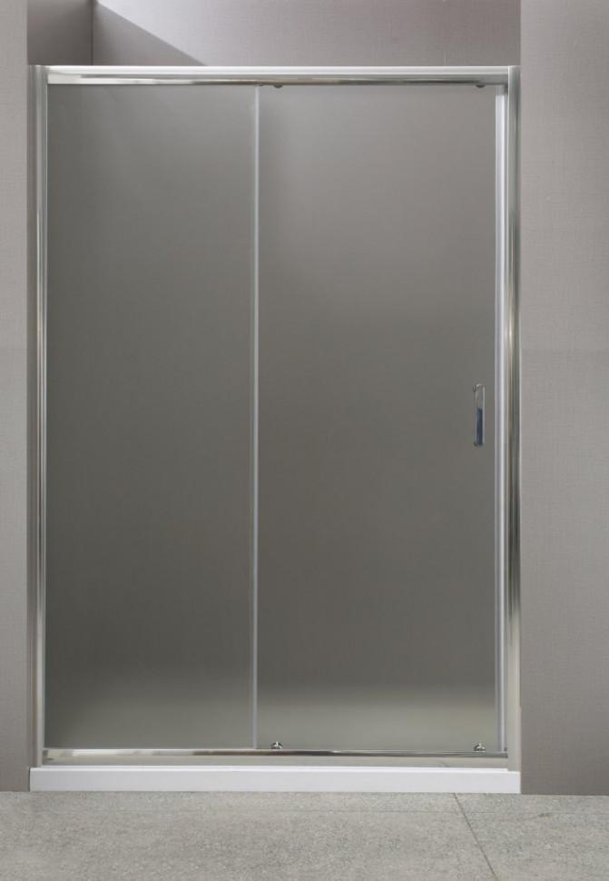 Душевая дверь 145 см BelBagno UNO-BF-1-145-P-Cr текстурное стекло