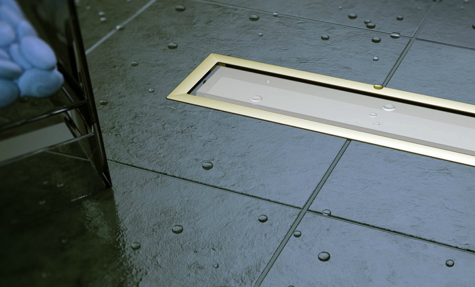 Душевой канал 850 мм Pestan Confluo Premium White Glass Gold Line 13100093 душевой трап pestan square 4 mask 150 мм 13000084