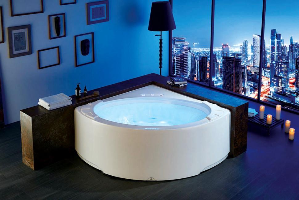 Акриловая гидромассажная ванна 155х155 см Gemy G9252 акриловая ванна gemy g9245