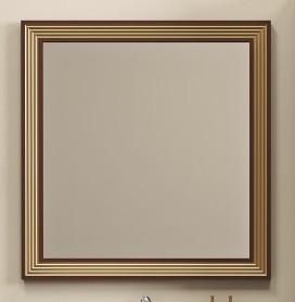 Зеркало 100х86,6 см золотая патина Opadiris Карат Z0000006630 тумба с раковиной белый серебряная патина 80 см opadiris карат karat80tag