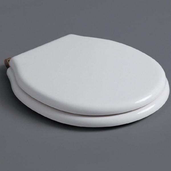 Сиденье для унитаза с микролифтом белый/бронза Simas Londra LO007bi/br недорого