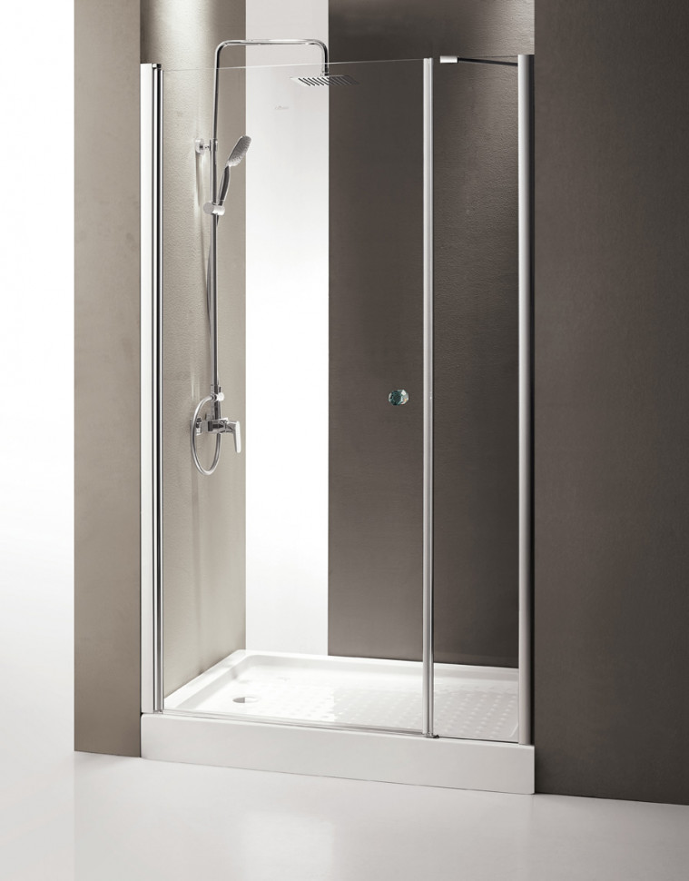 Душевая дверь распашная Cezares Triumph 100 см прозрачное стекло TRIUMPH-D-B-11-40+60-C-Cr-L био туалет moderna friends forever для кошек с совком синий