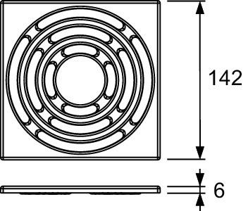 Декоративная решетка 142×142 мм TECE TECEdrainpoint S хром 3665003