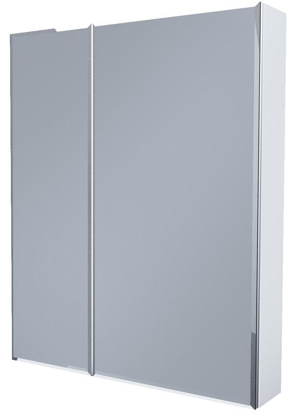 Зеркальный шкаф 75х80 см белый глянец 1Marka Соната У29559 недорого